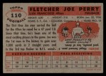 1956 Topps #110  Joe Perry  Back Thumbnail