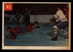 1954 Parkhurst #95   -  Doug Harvey Harvey Takes a Nosedive Front Thumbnail