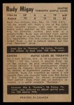 1954 Parkhurst #21  Rudy Migay  Back Thumbnail