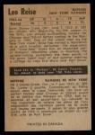 1954 Parkhurst #67  Leo Reise  Back Thumbnail