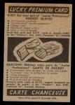 1954 Parkhurst #52  Hal Laycoe  Back Thumbnail