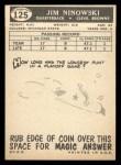 1959 Topps #125  Jim Ninowski  Back Thumbnail