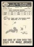 1959 Topps #163  L.G. Dupre  Back Thumbnail