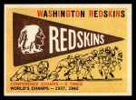 1959 Topps #168   Redskins Pennant Front Thumbnail