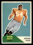 1960 Fleer #70  Don Hitt  Front Thumbnail