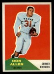 1960 Fleer #82  Don Allen  Front Thumbnail