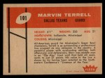 1960 Fleer #101  Marvin Terrell  Back Thumbnail