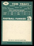 1960 Topps #95  Tom Tracy  Back Thumbnail