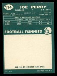 1960 Topps #114  Joe Perry  Back Thumbnail