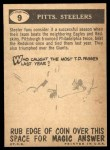 1959 Topps #9   Steelers Team Checklist Back Thumbnail