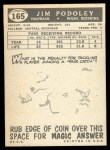 1959 Topps #165  Jim Podoley  Back Thumbnail