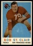 1959 Topps #58  Bob St. Clair  Front Thumbnail
