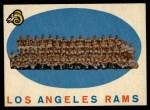 1959 Topps #76   Rams Team Checklist Front Thumbnail