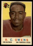 1959 Topps #33  R.C. Owens  Front Thumbnail