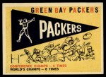 1959 Topps #98   Packers Pennant Front Thumbnail