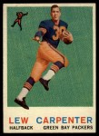 1959 Topps #95  Lew Carpenter  Front Thumbnail