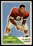 1960 Fleer #28  Joe Amstutz  Front Thumbnail