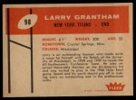 1960 Fleer #98  Larry Grantham  Back Thumbnail