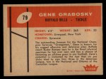 1960 Fleer #79  Gene Grabosky  Back Thumbnail