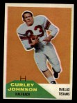 1960 Fleer #123  Curley Johnson  Front Thumbnail