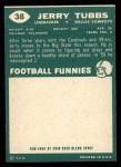 1960 Topps #38  Jerry Tubbs  Back Thumbnail