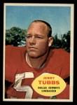 1960 Topps #38  Jerry Tubbs  Front Thumbnail