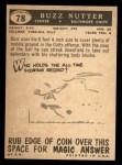 1959 Topps #78  Buzz Nutter  Back Thumbnail