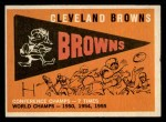 1959 Topps #38   Browns Pennant Front Thumbnail