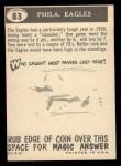 1959 Topps #83   Eagles Pennant Back Thumbnail