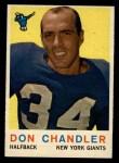 1959 Topps #49  Don Chandler  Front Thumbnail