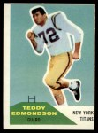 1960 Fleer #91  Teddy Edmondson  Front Thumbnail