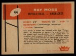 1960 Fleer #44  Ray Moss  Back Thumbnail