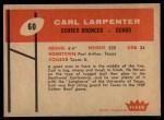 1960 Fleer #60  Carl Larpenter  Back Thumbnail