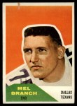 1960 Fleer #100  Mel Branch  Front Thumbnail