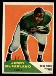 1960 Fleer #126  Jerry McFarland  Front Thumbnail