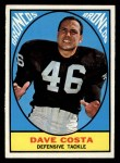 1967 Topps #33  Dave Costa  Front Thumbnail