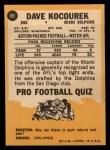 1967 Topps #88  Dave Kocourek  Back Thumbnail