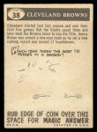 1959 Topps #38   Browns Pennant Back Thumbnail
