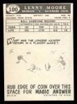 1959 Topps #100  Lenny Moore  Back Thumbnail
