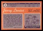 1970 Topps #89  Jerry LeVias  Back Thumbnail