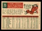 1959 Topps #75  Sam Jones  Back Thumbnail