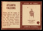 1967 Philadelphia #1   Atlanta Falcons Team Back Thumbnail