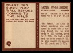 1967 Philadelphia #11  Ernie Wheelwright  Back Thumbnail