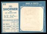 1961 Topps #52  Del Shofner  Back Thumbnail