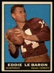 1961 Topps #20  Eddie LeBaron  Front Thumbnail
