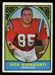 1967 Topps #13  Nick Buoniconti  Front Thumbnail