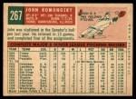 1959 Topps #267  John Romonosky  Back Thumbnail