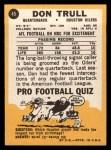 1967 Topps #45  Don Trull  Back Thumbnail