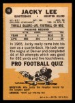 1967 Topps #46  Jacky Lee  Back Thumbnail