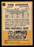1967 Topps #5  Tom Addison  Back Thumbnail